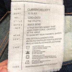 Current/Elliott Pants - CURRENT/ELLIOT, The Stiletto Skinny Jeans
